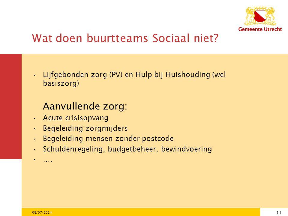 Wat doen buurtteams Sociaal niet