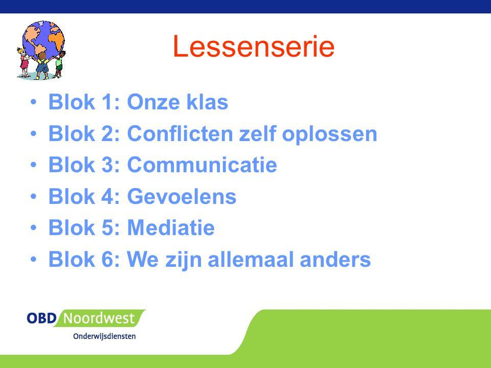 Lessenserie Blok 1: Onze klas Blok 2: Conflicten zelf oplossen