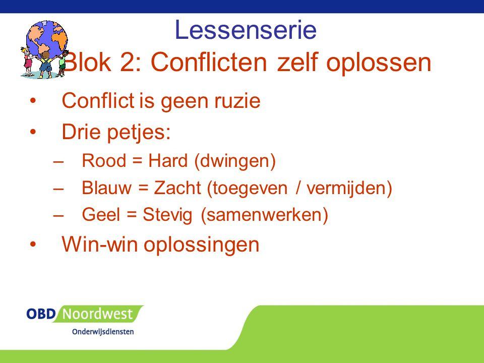 Lessenserie Blok 2: Conflicten zelf oplossen