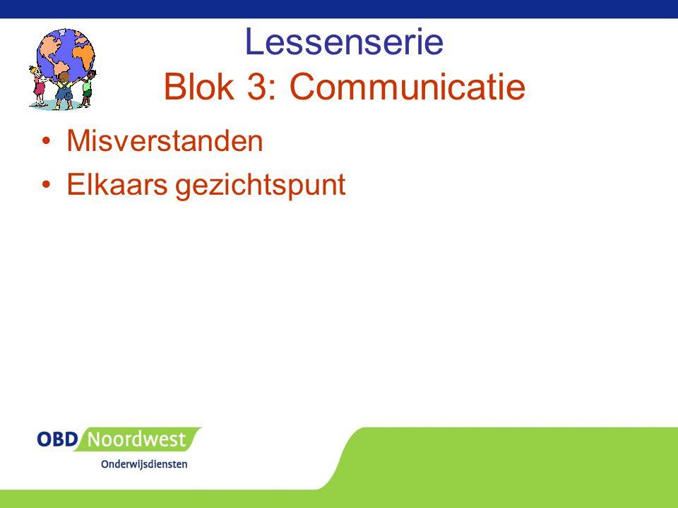 Lessenserie Blok 3: Communicatie