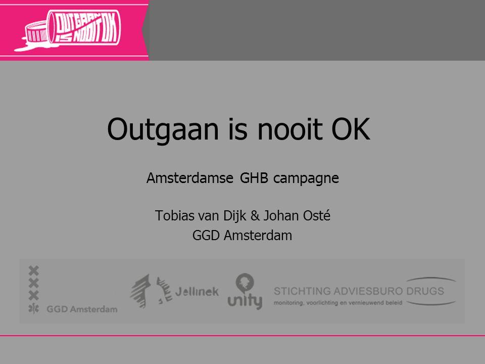 Amsterdamse GHB campagne Tobias van Dijk & Johan Osté GGD Amsterdam