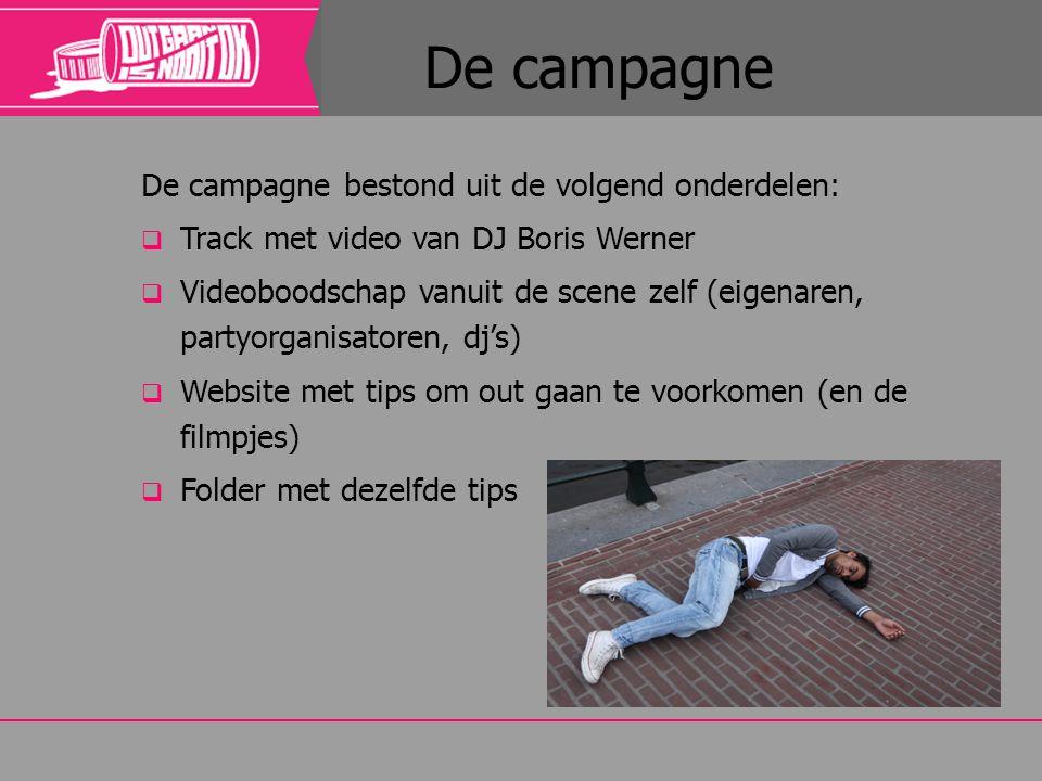De campagne De campagne bestond uit de volgend onderdelen: