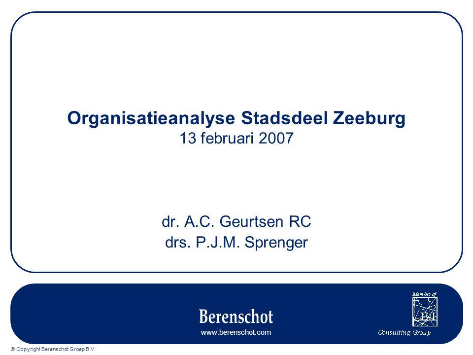Organisatieanalyse Stadsdeel Zeeburg