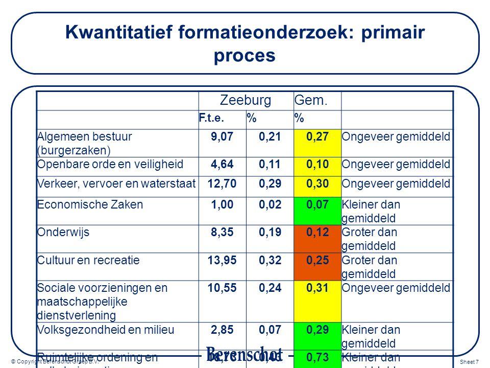 Kwantitatief formatieonderzoek: primair proces