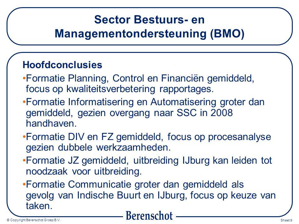 Sector Bestuurs- en Managementondersteuning (BMO)