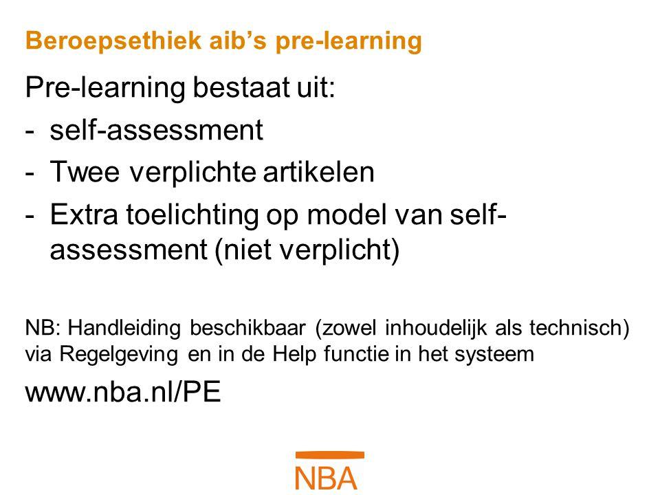 Beroepsethiek aib's pre-learning