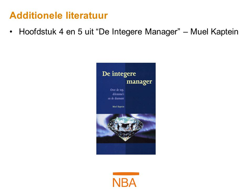 Additionele literatuur