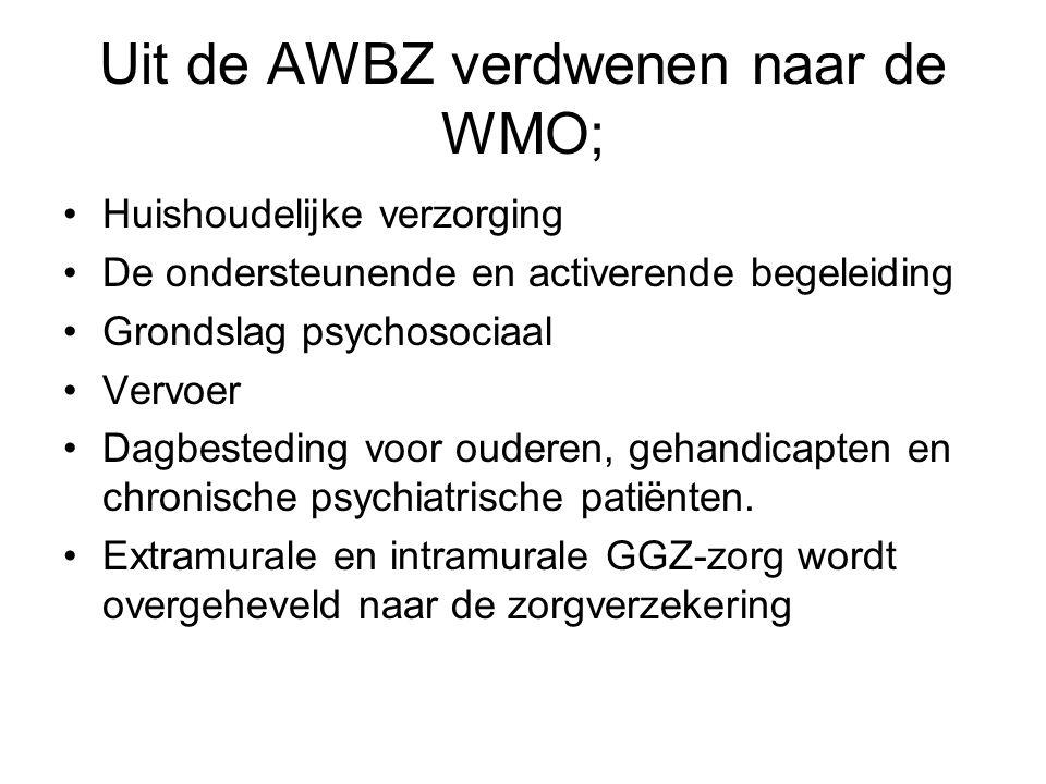 Uit de AWBZ verdwenen naar de WMO;