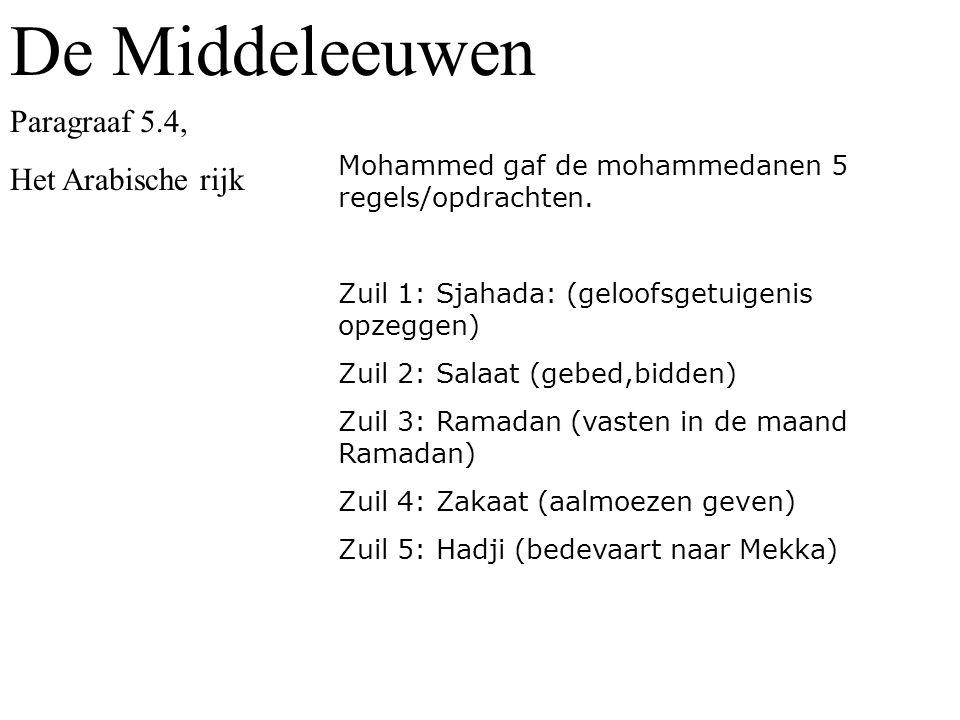De Middeleeuwen Paragraaf 5.4, Het Arabische rijk