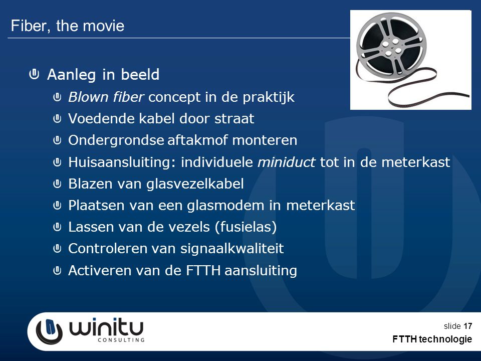 Fiber, the movie Aanleg in beeld Blown fiber concept in de praktijk