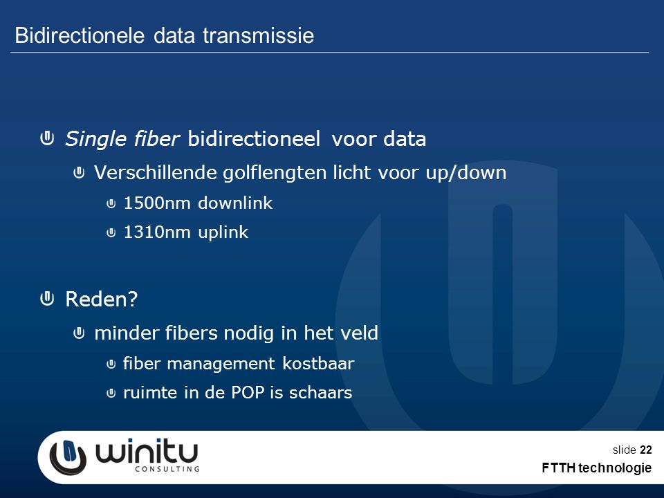 Bidirectionele data transmissie