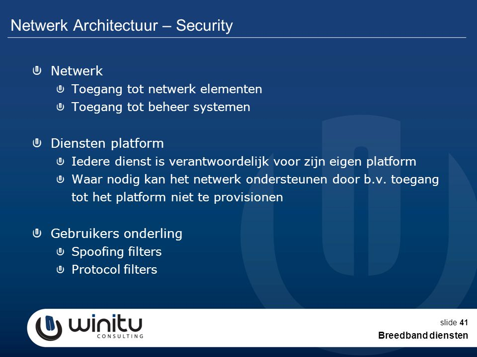 Netwerk Architectuur – Security
