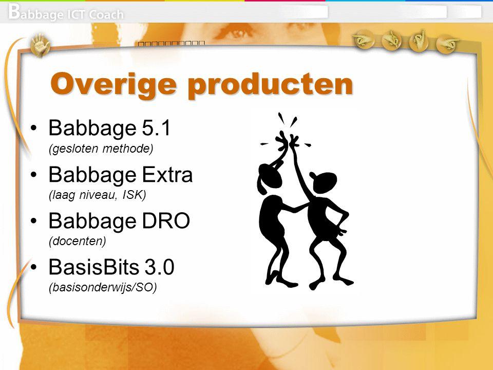 Overige producten Babbage 5.1 (gesloten methode)