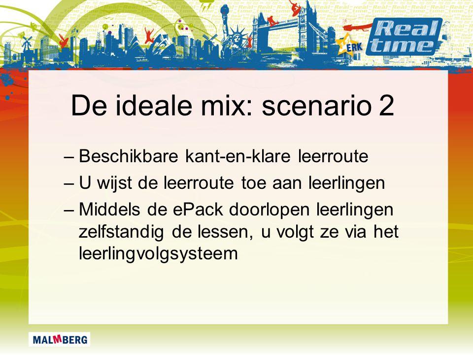 De ideale mix: scenario 2