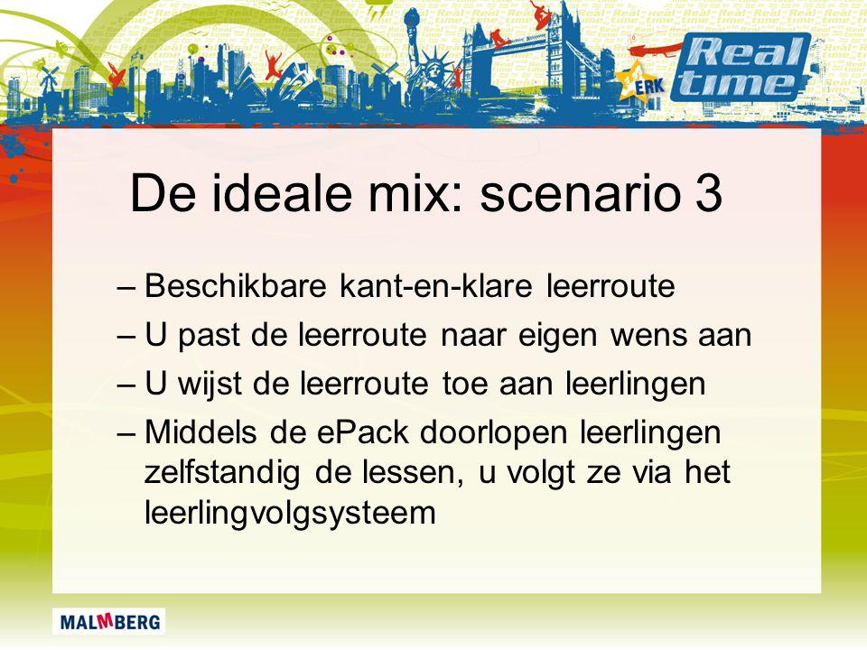 De ideale mix: scenario 3