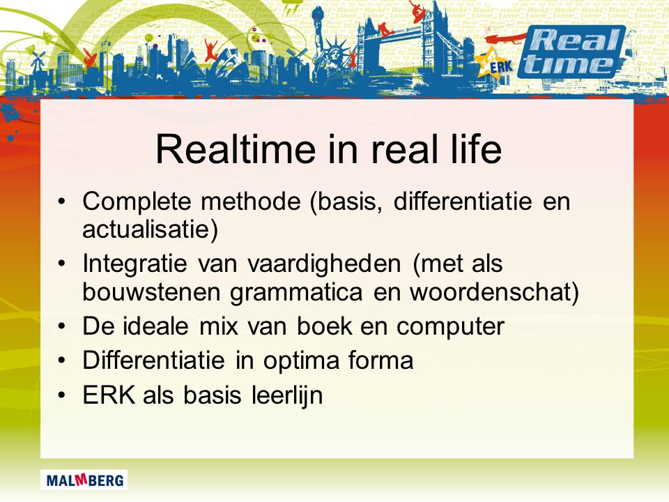 Realtime in real life Complete methode (basis, differentiatie en actualisatie)