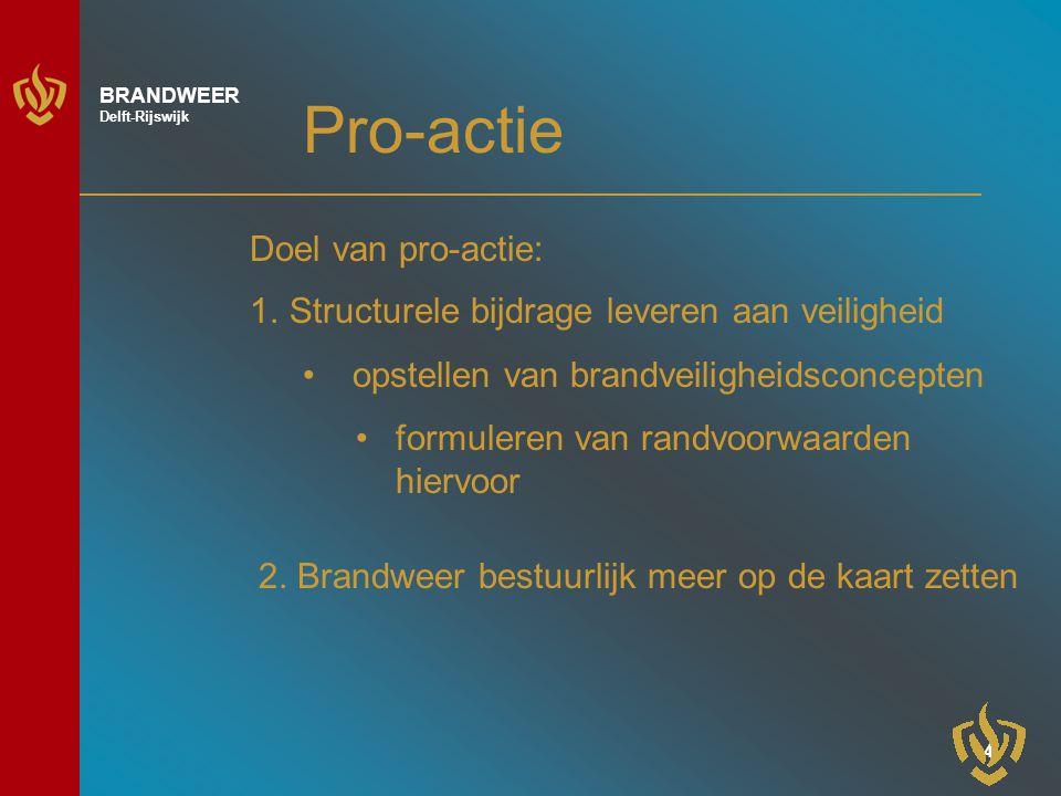 Pro-actie Doel van pro-actie: