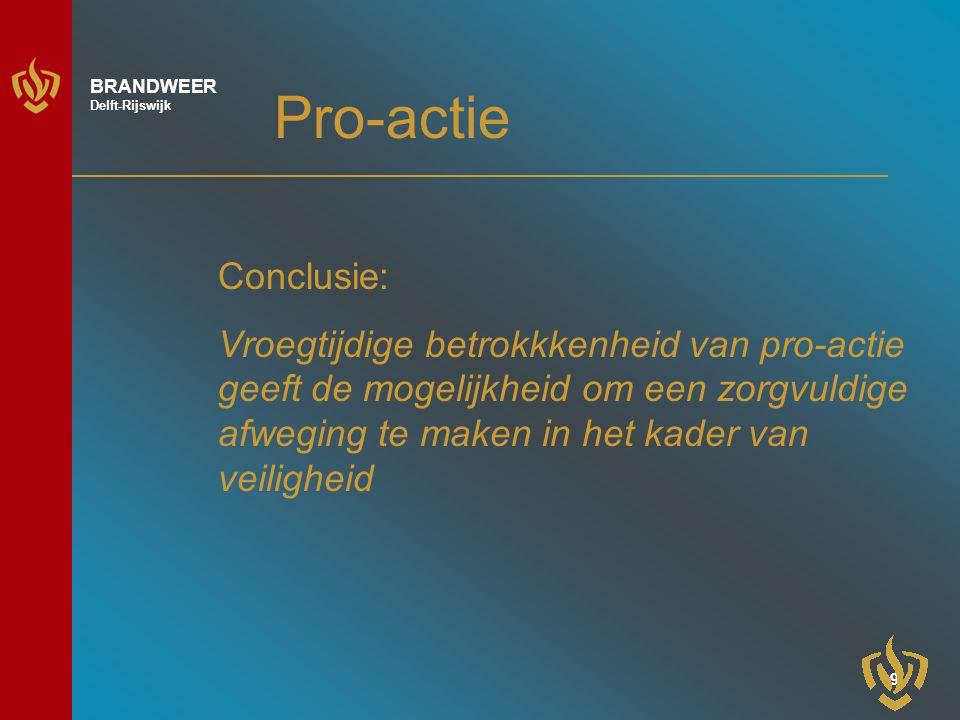 Pro-actie Conclusie: