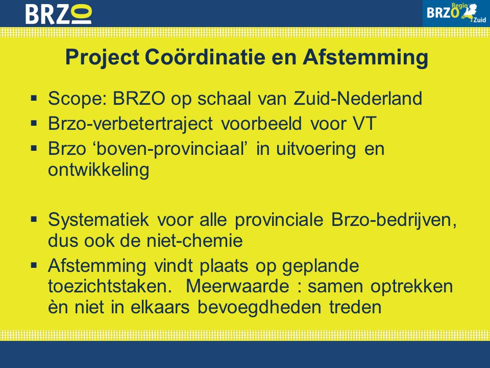 Project Coördinatie en Afstemming