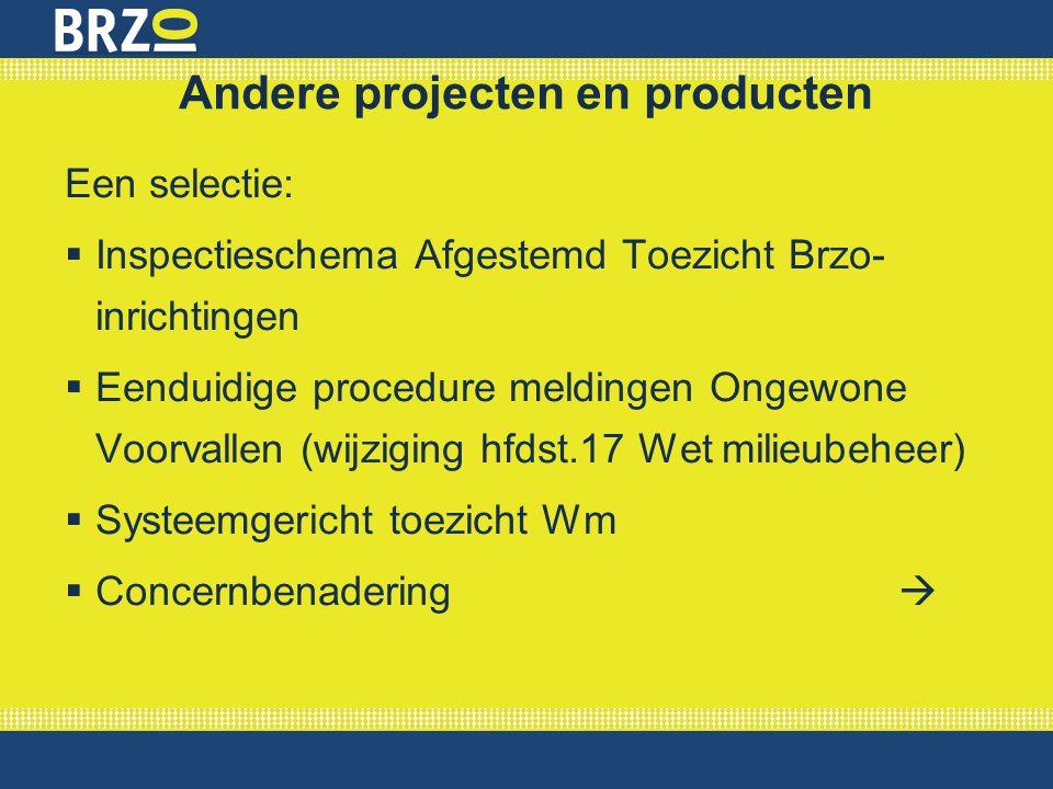 Andere projecten en producten