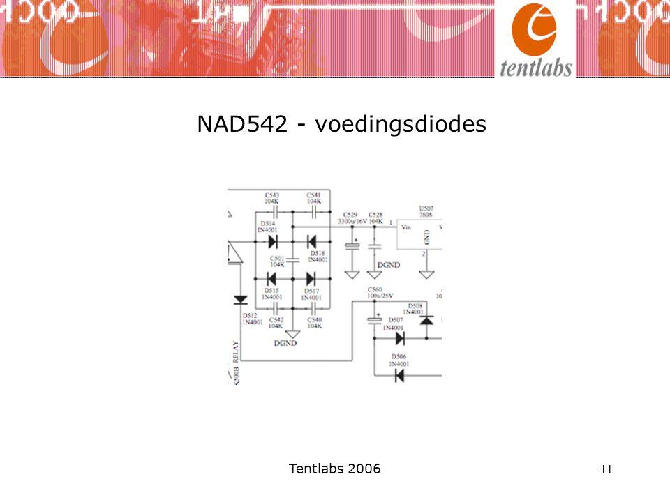 NAD542 - voedingsdiodes Tentlabs 2006