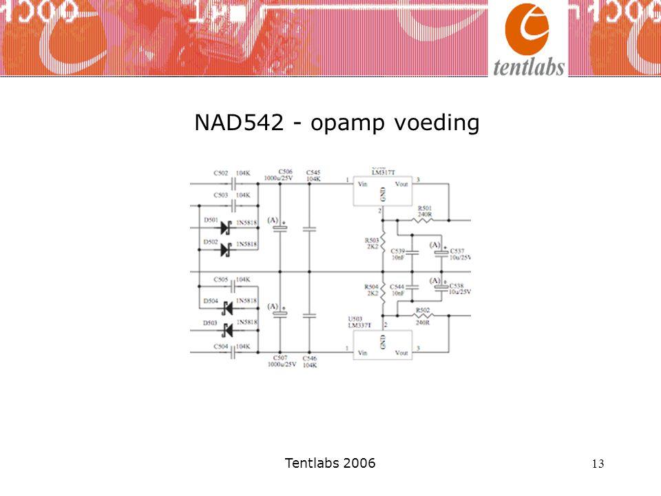 NAD542 - opamp voeding Tentlabs 2006