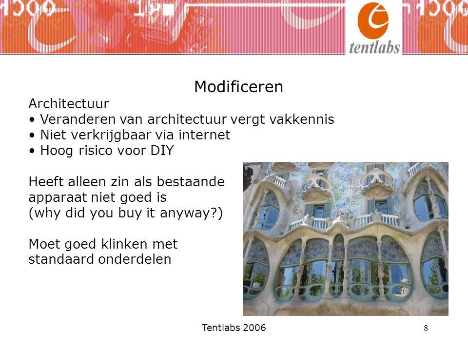 Modificeren Architectuur Veranderen van architectuur vergt vakkennis