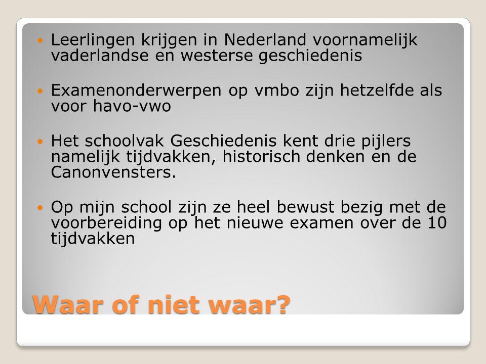 Leerlingen krijgen in Nederland voornamelijk vaderlandse en westerse geschiedenis