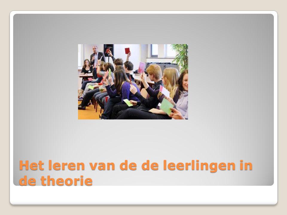 Het leren van de de leerlingen in de theorie