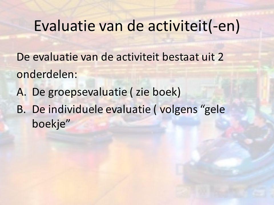 Evaluatie van de activiteit(-en)