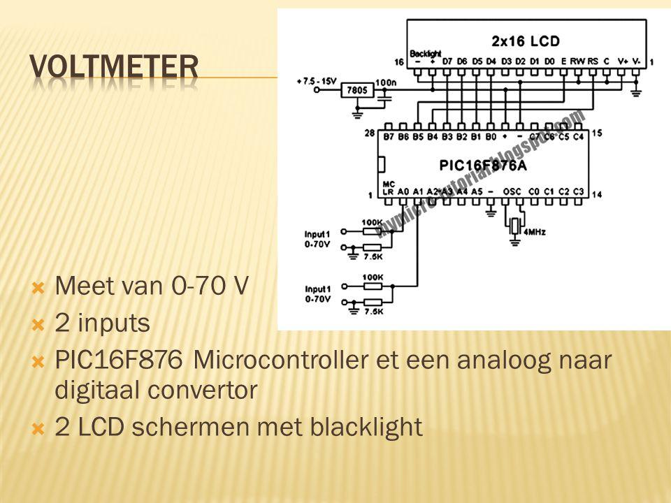voltmeter Meet van 0-70 V 2 inputs