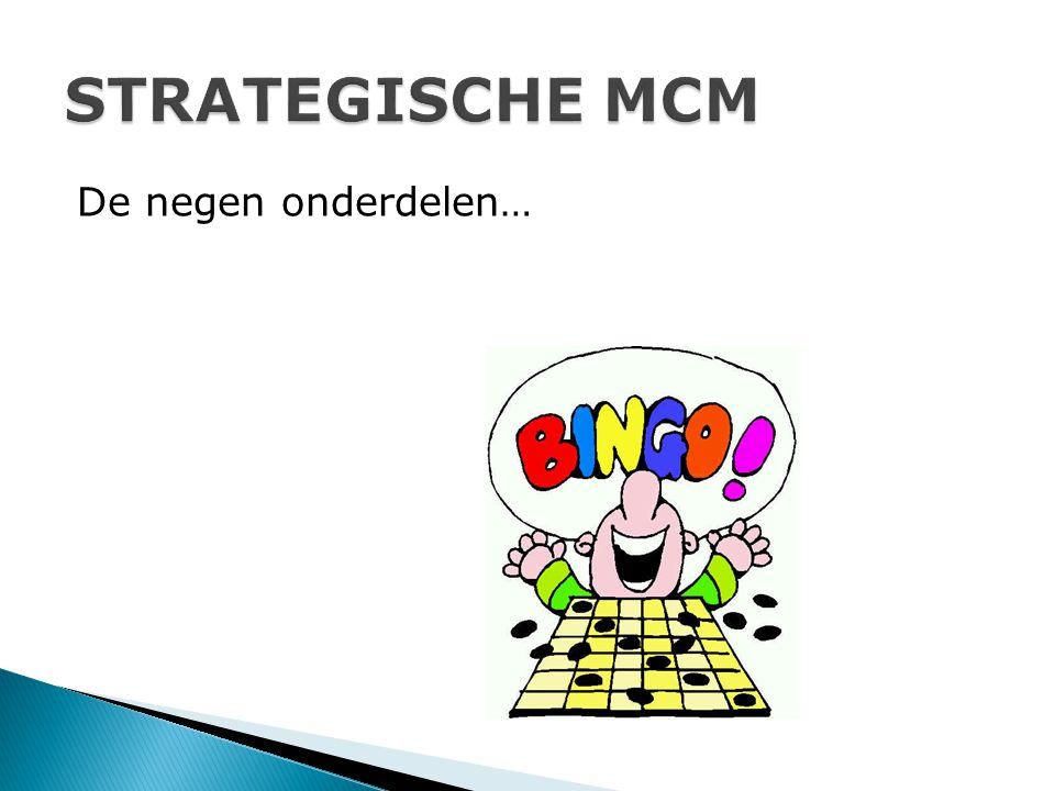 STRATEGISCHE MCM De negen onderdelen…