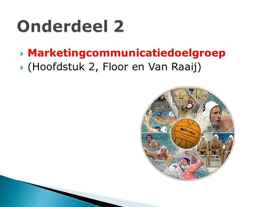 Onderdeel 2 Marketingcommunicatiedoelgroep