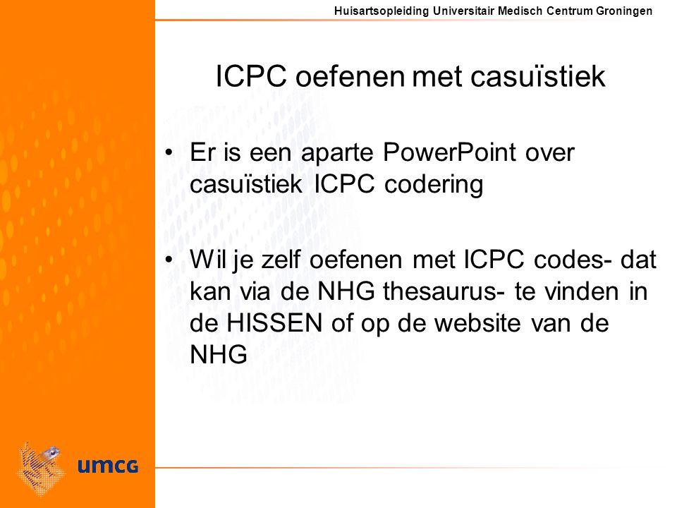ICPC oefenen met casuïstiek