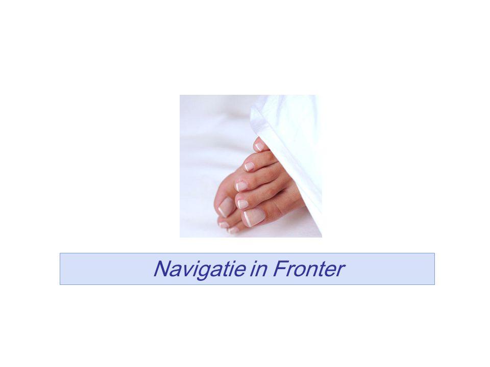 Navigatie in Fronter