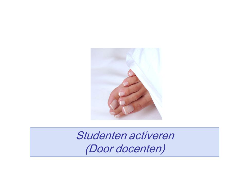 Studenten activeren (Door docenten)