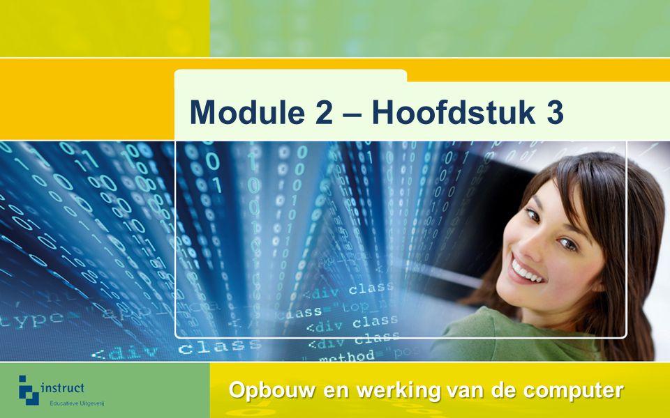 Module 2 – Hoofdstuk 3 Opbouw en werking van de computer
