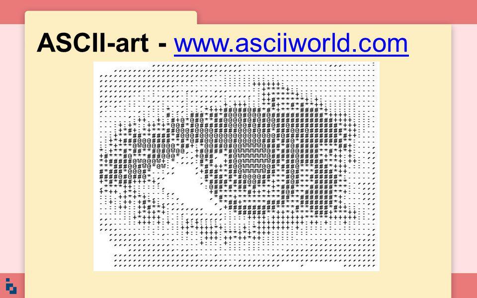 ASCII-art - www.asciiworld.com