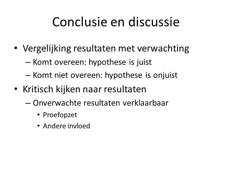 Conclusie en discussie