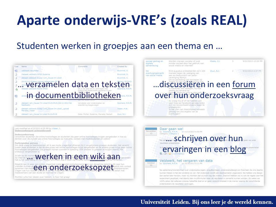 Aparte onderwijs-VRE's (zoals REAL)
