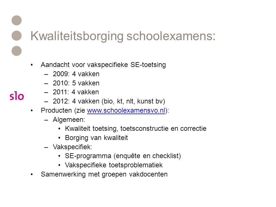 Kwaliteitsborging schoolexamens: