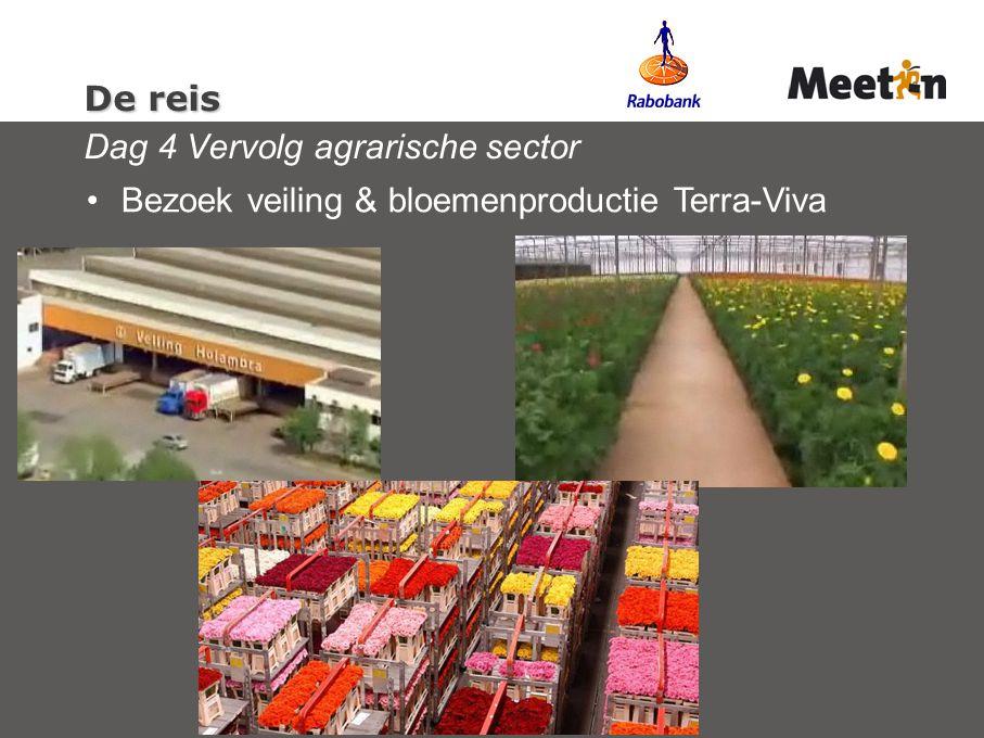 De reis Dag 4 Vervolg agrarische sector