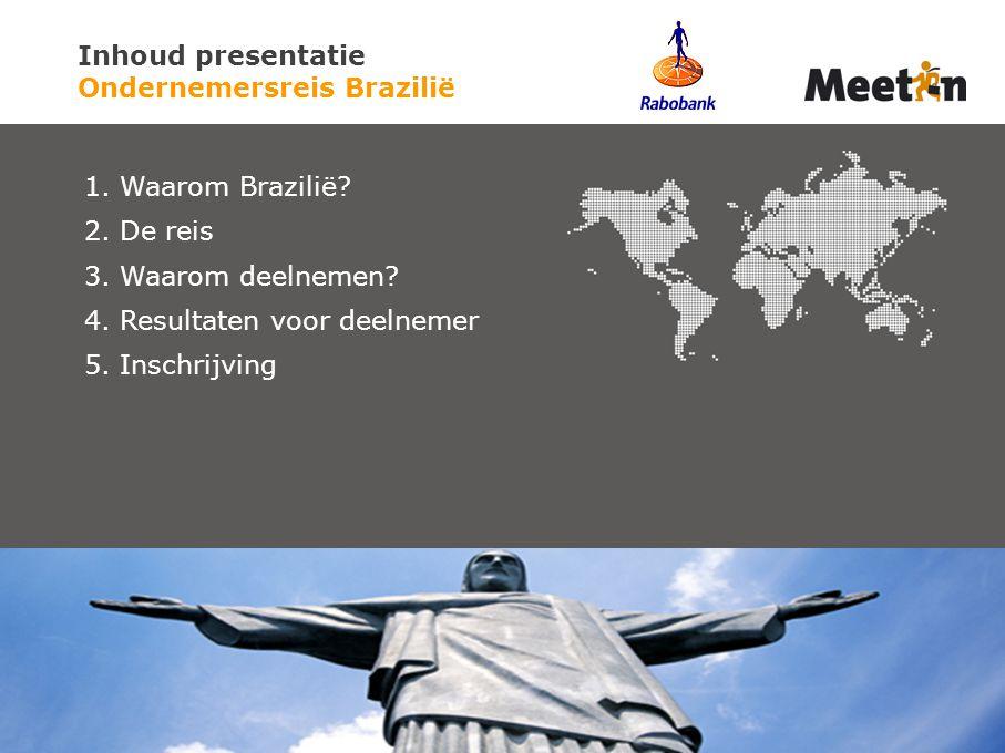 Inhoud presentatie Ondernemersreis Brazilië