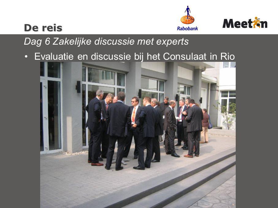 De reis Dag 6 Zakelijke discussie met experts