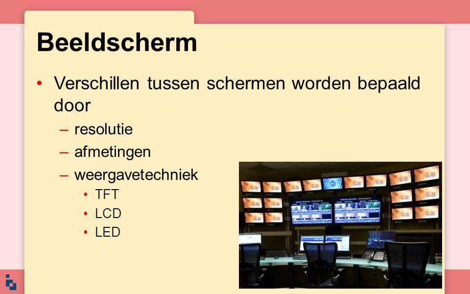 Beeldscherm Verschillen tussen schermen worden bepaald door resolutie