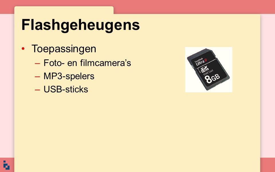Flashgeheugens Toepassingen Foto- en filmcamera's MP3-spelers