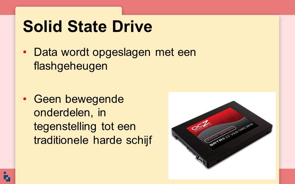 Solid State Drive Data wordt opgeslagen met een flashgeheugen