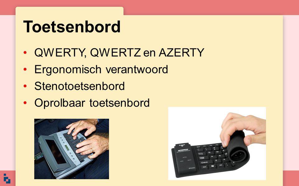 Toetsenbord QWERTY, QWERTZ en AZERTY Ergonomisch verantwoord