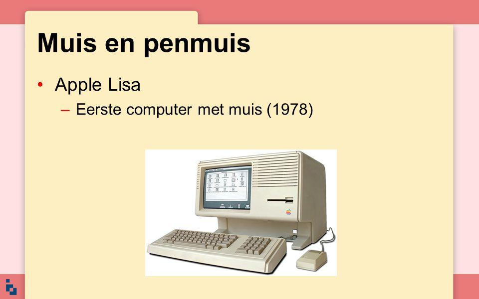 Muis en penmuis Apple Lisa Eerste computer met muis (1978)