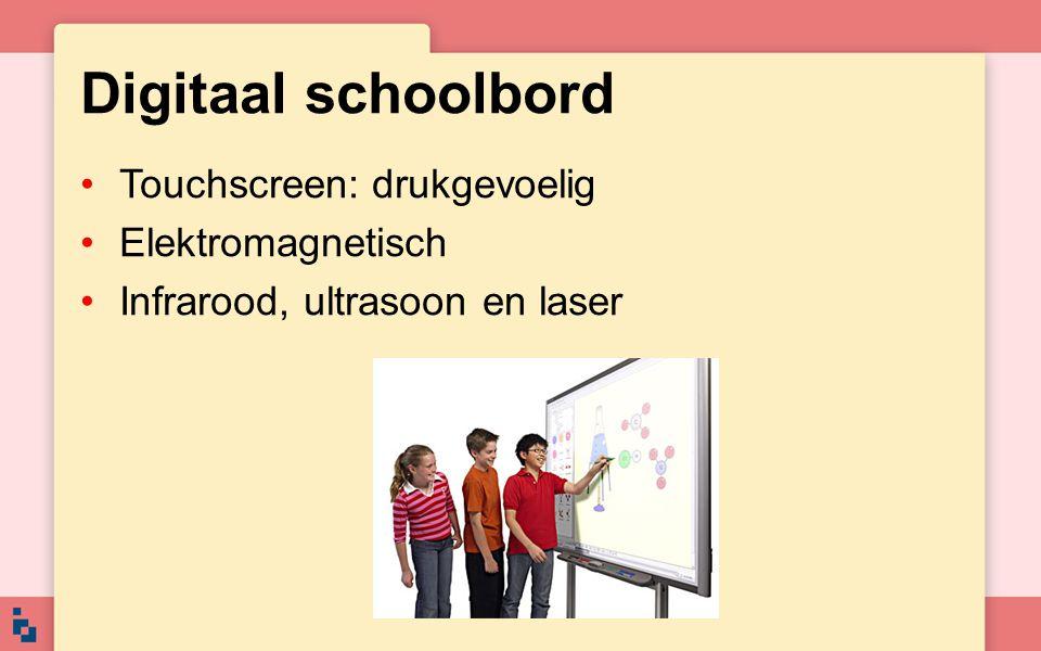 Digitaal schoolbord Touchscreen: drukgevoelig Elektromagnetisch